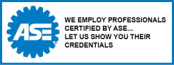 At Grandview Tire & Auto - Cahill We Employ Technicians Certified by ASE...  Let us Show You Their Credentials.