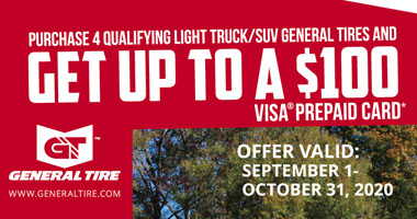 General Tire - Up to $100 Tire Rebate