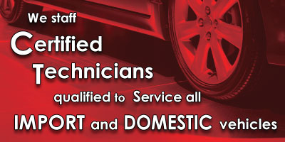 ASE Certified auto repair
