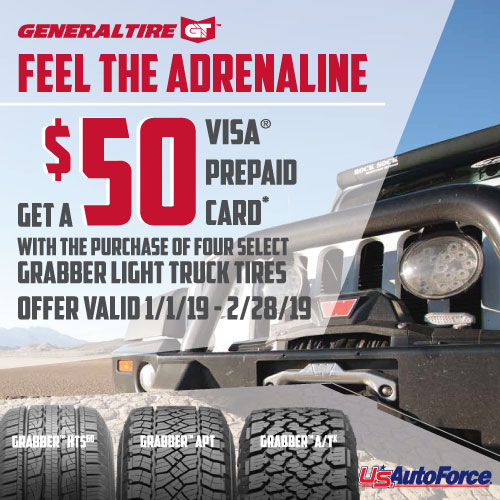 General $50 Light Truck Tire Rebate